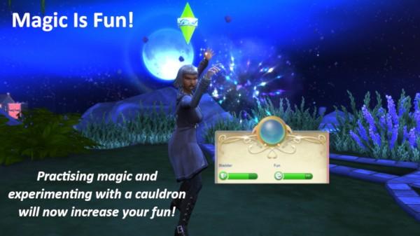 Mod The Sims: Magic Is Fun   Practising Magic Becomes Fun! by LukeSimoleon
