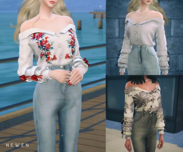 Newen: Off shoulder Shirts and Jeans
