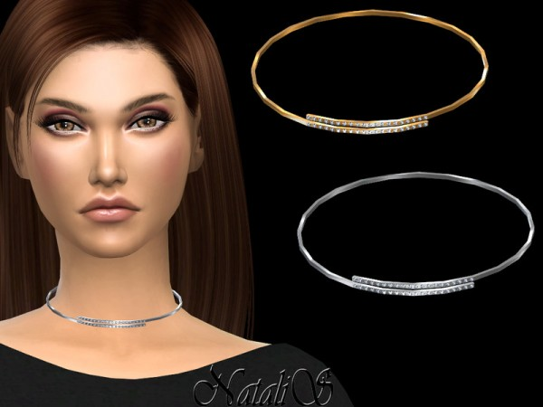 The Sims Resource: Open hoop wire choker by NataliS