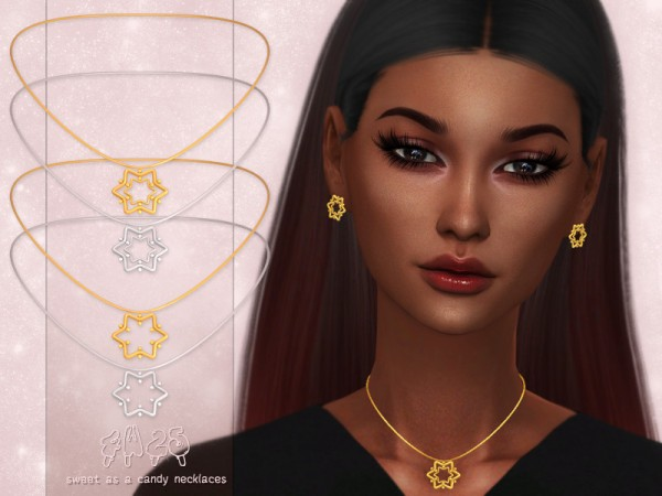 The Sims Resource: Sweet as a Candy Necklaces by 4w25