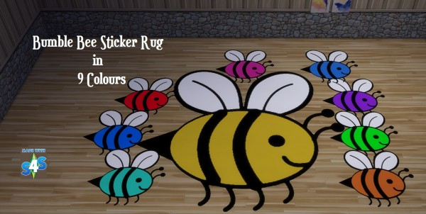 Mod The Sims: Bumble Bee Sticker Rug Designs by wendy35pearly