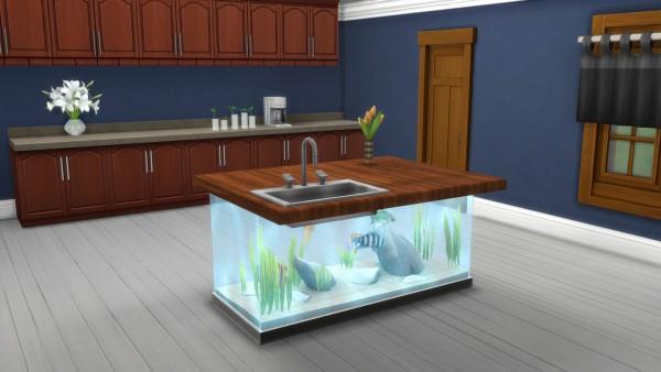 Mod The Sims: Aquarium Counter Island Base by Snowhaze