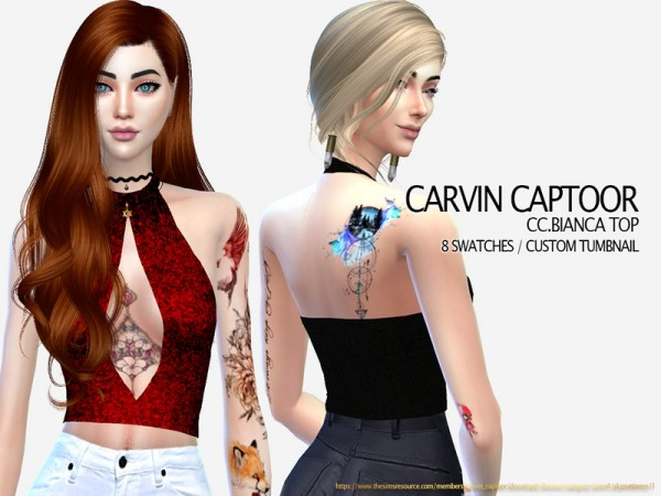 The Sims Resource: Bianca Top by carvin captoor
