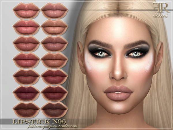 The Sims Resource: Lipstick N96 by FashionRoyaltySims