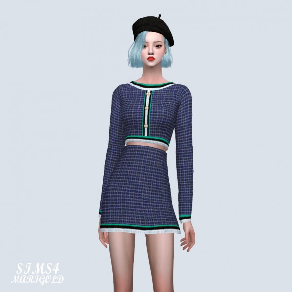 SIMS4 Marigold: 3 Point Line Two Piece