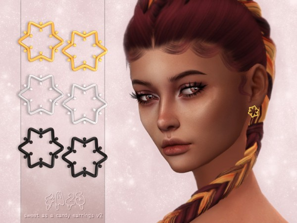 The Sims Resource: Sweet as a Candy Earrings V2 by 4w25 cc
