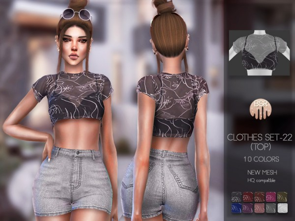 The Sims Resource: Clothes SET 22 top by busra tr