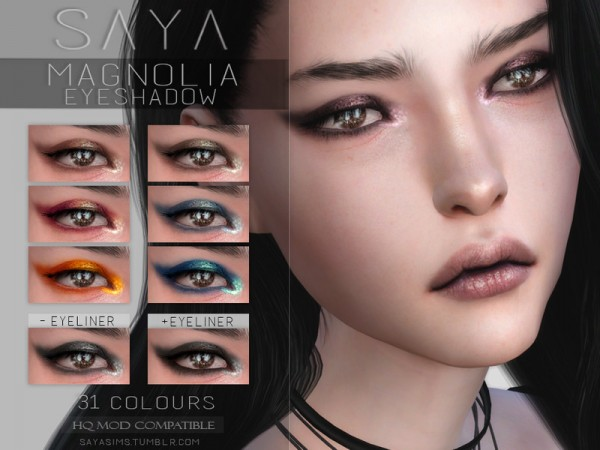 The Sims Resource: Magnolia Eyeshadow by SayaSims