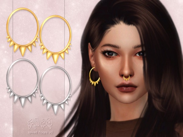 The Sims Resource: Spiked Hoops V2 by 4w25 cc