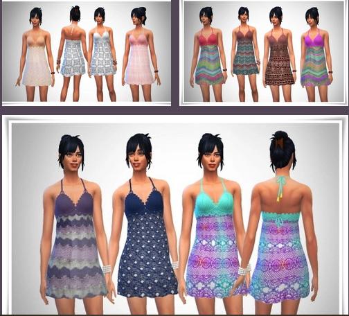 Birkschessimsblog: Beach Crochet Short Dress