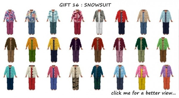 Red Head Sims: Snow suit