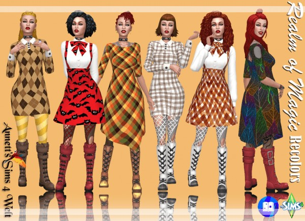 Annett`s Sims 4 Welt: Realm of Magic Dresses   Recolors