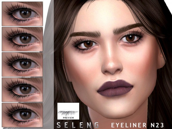 The Sims Resource: Eyeliner N23 by Seleng