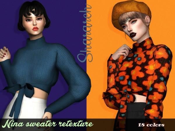 The Sims Resource: Nina Sweater Retextured by Sharareh