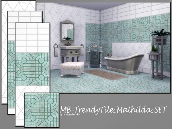 The Sims Resource: Trendy Tile Mathilda set by matomibotaki