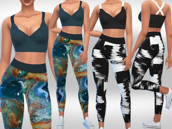 The Sims Resource: Yoga Mix Outfits by Saliwa