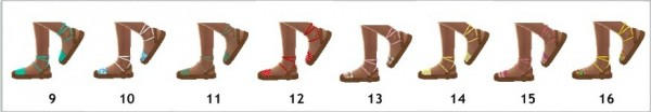 Sims 4 Sue: Ankle tied sandals