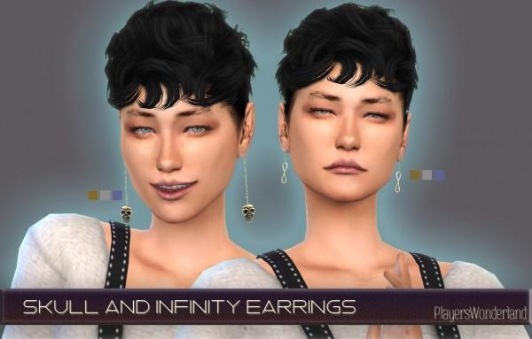 Players Wonderland: Skul and Infinity earrings