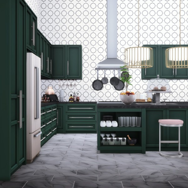 Simsational designs: Quintin Kitchen   Stylish Modern Design