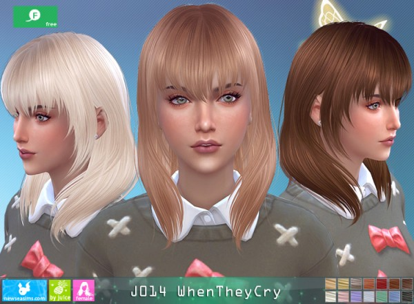 NewSea: J014 When Then Cry Free Hairstyle