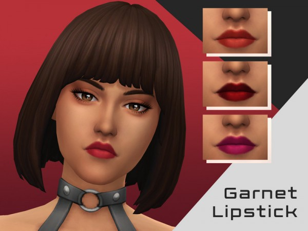 The Sims Resource: Garnet Lipstick by ChickenDrumstick