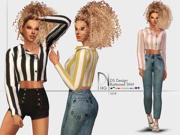 The Sims Resource: Design Buttoned Shirt by DarkNighTt