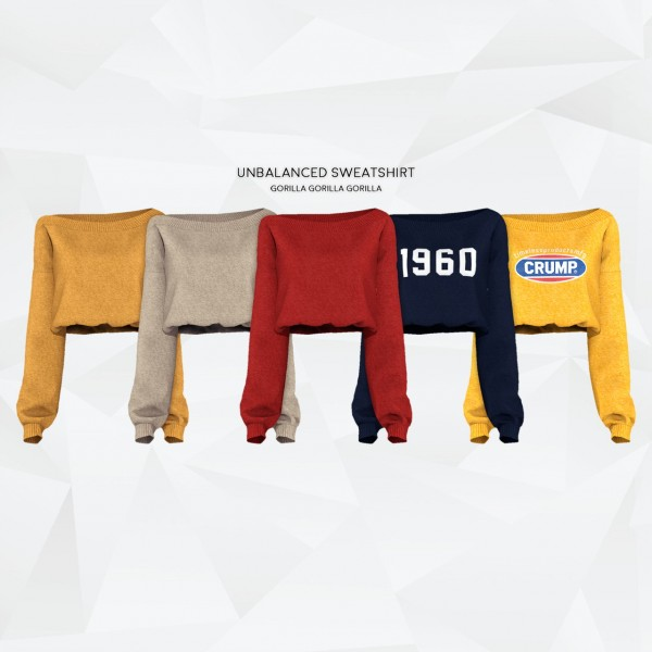 Gorilla: Unbalanced Sweatshirt and Cutted Skirt
