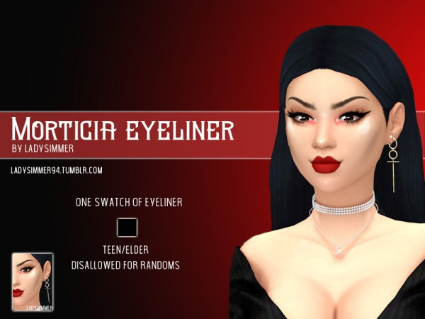The Sims Resource: Morticia Eyeliner by LadySimmer94