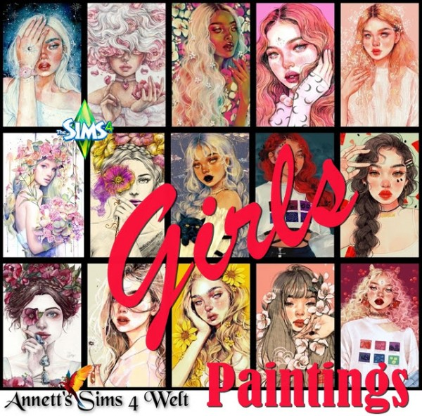 Annett`s Sims 4 Welt: Paintings Girls