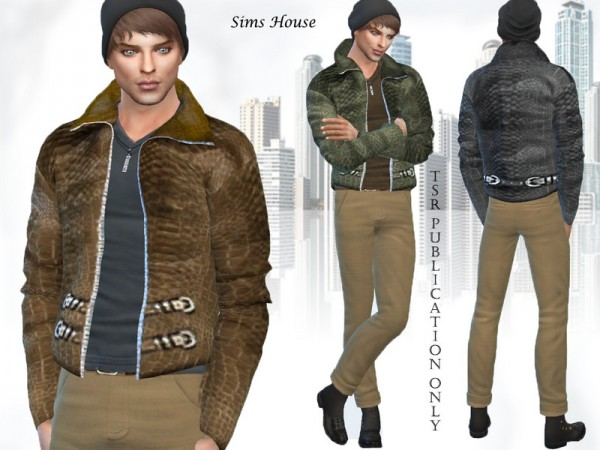 The Sims Resource: Mens leather jacket by Sims House
