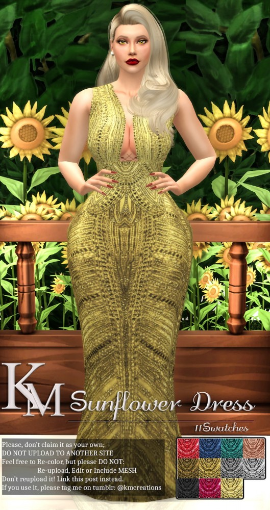 KM: Sunflower Dress