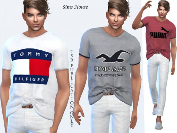 The Sims Resource: Mens t shirt large size by Sims House