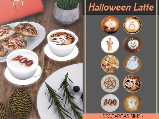 Descargas Sims: Halloween Latte