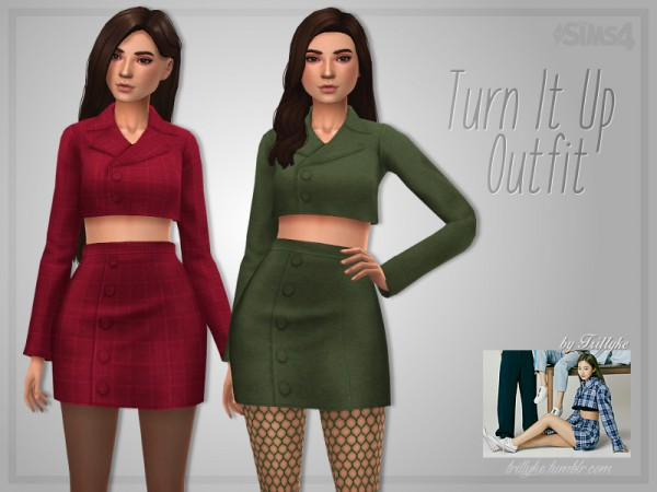 The Sims Resource: Turn It Up Outfit by Trillyke