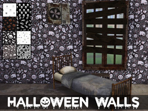 Models Sims 4: Halloween Walls