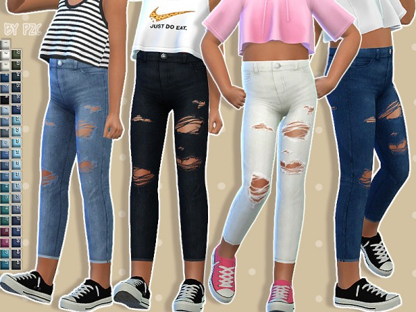 The Sims Resource: Set High Waisted Jeans by Pinkzombiecupcakes
