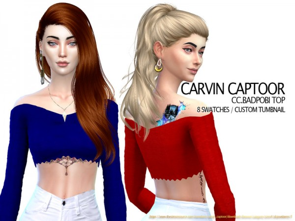 The Sims Resource: Badpobi top by carvin captoor