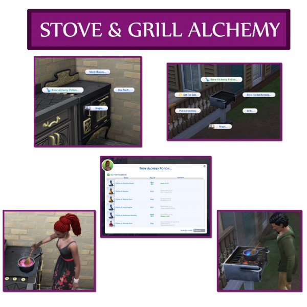 Mod The Sims: Stove and Grill Alchemy by icemunmun