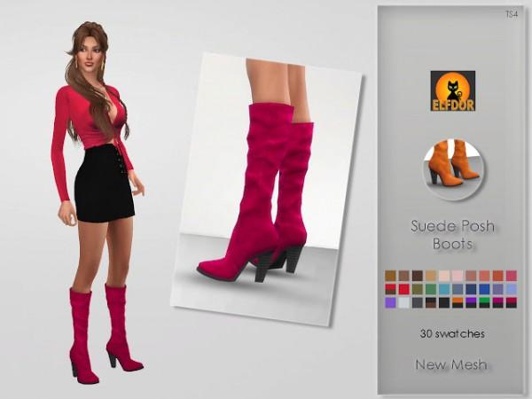Elfdor: Suede Posh Boots   Halloween gift