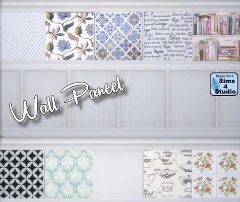 All4Sims: Wand paneel by Oldbox