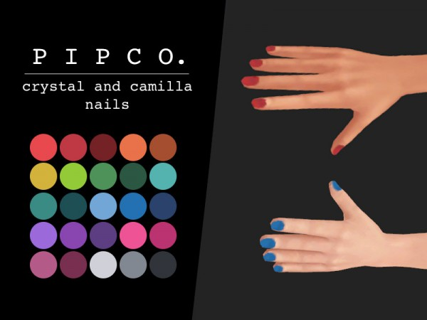 The Sims Resource: Crystal and camilla nails by Pipco
