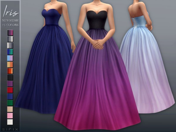 The Sims Resource: Iris Gown by Sifix