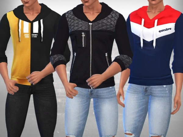 The Sims Resource: Sims Hoodies Mix by Saliwa