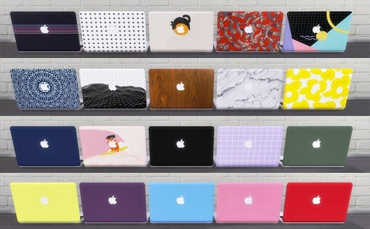 Descargas Sims: Functional MacBook Pro 2019   With cases