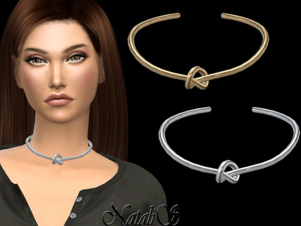 The Sims Resource: Single knot choker by NataliS