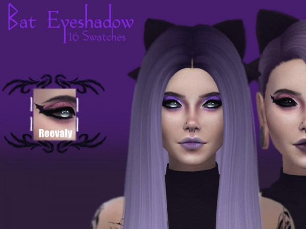 The Sims Resource: Bat Eyeshadow by Reevaly