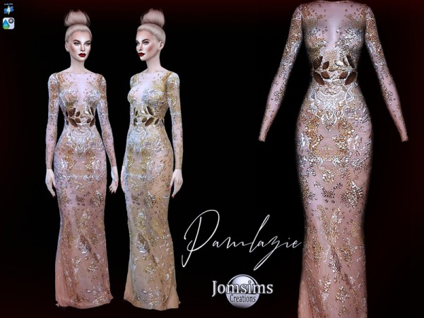 The Sims Resource: Pamlazie dress by jomsims