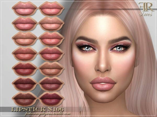 The Sims Resource: Lipstick N106 by FashionRoyaltySims