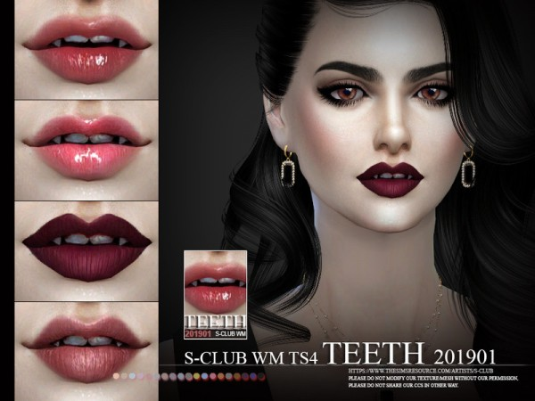 The Sims Resource: Teeth 201901 by S Club