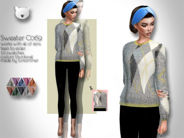 The Sims Resource: Sweater C069 by turksimmer
